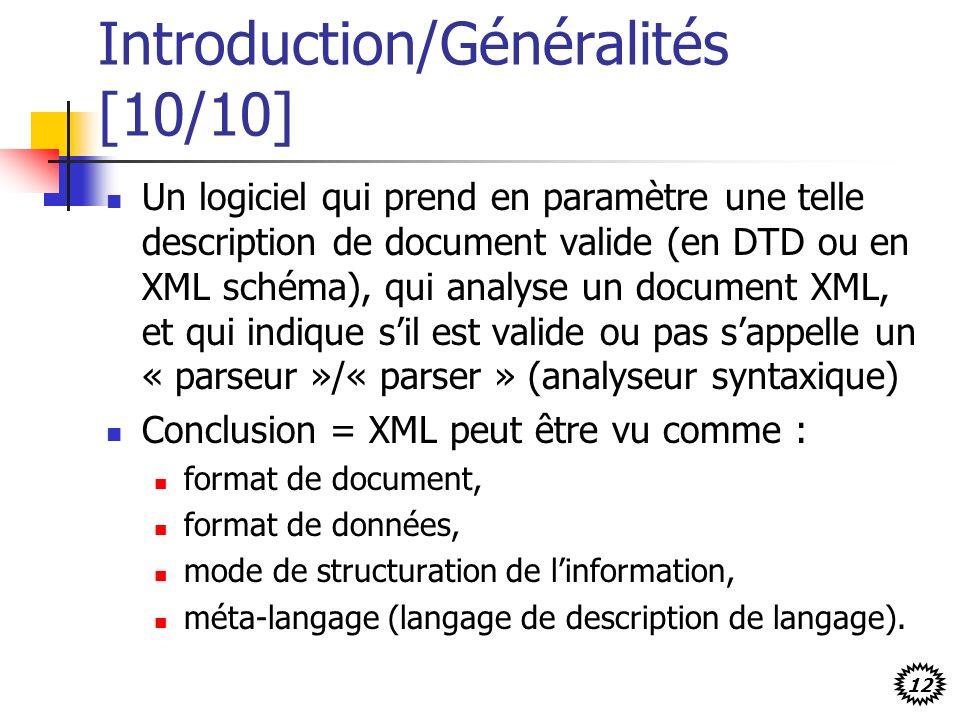 Introduction/Généralités [10/10]